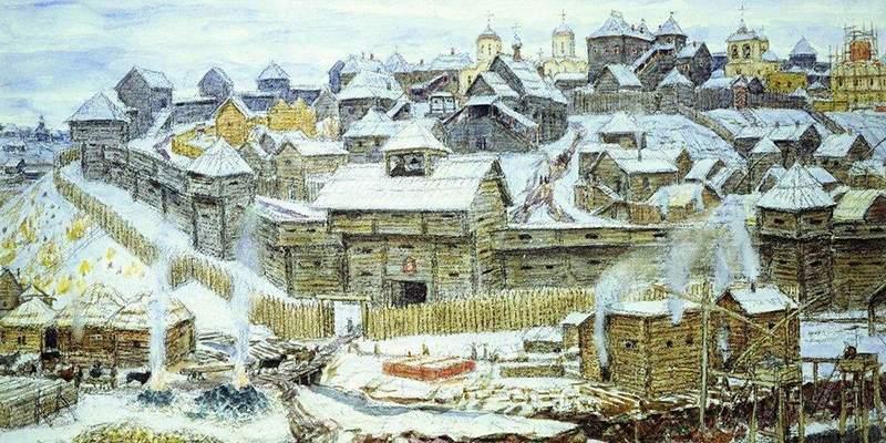 Москва в XIV веке.