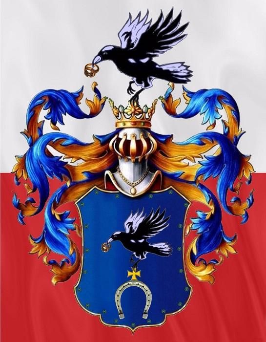 Герб Слеповрон соотносят с венгерским королём Матяшом по прозвищу Корвин (Ворон). Венгерская и польская история всегда были тесно переплетены.