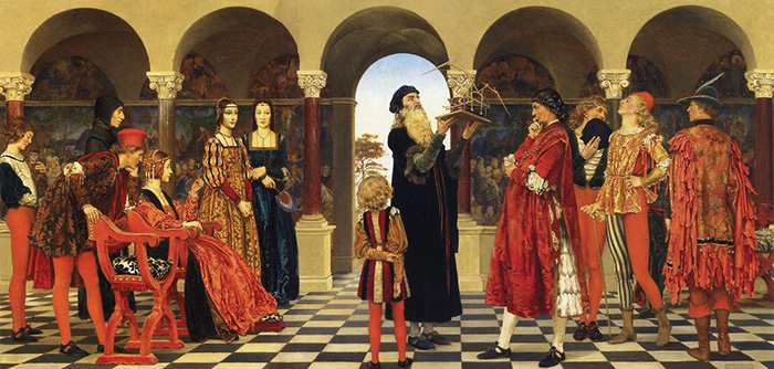 Иллюстрация с изображением Леонардо да Винчи.